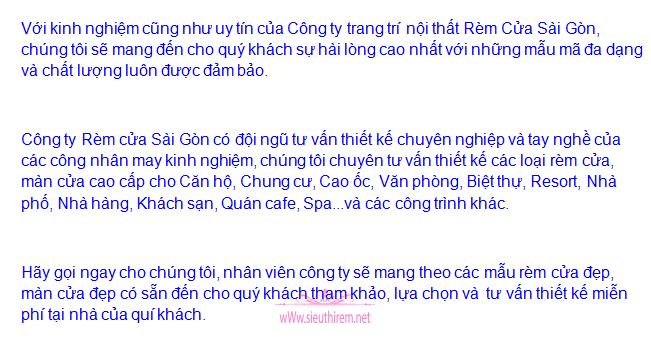 Siêu thị rèm cửa Sài Gòn